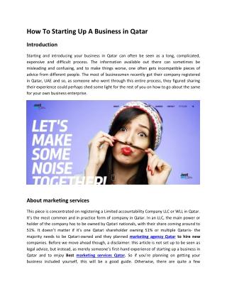 Best Marketing Agency in Qatar
