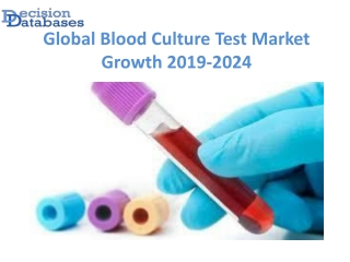 Global Blood Culture Test Market Analysis, Size, Dynamics 2024