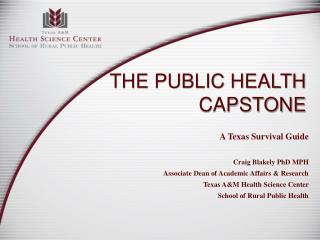 The Public Health Capstone