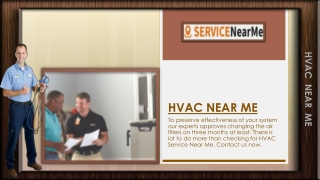 Reach Us To End Your Search For HVAC Near Me
