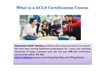 What is a ACLS Certification Course