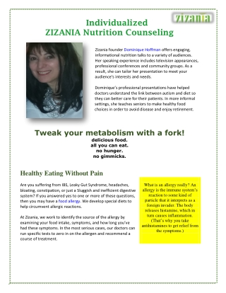ZIZANIA Nutrition Counseling