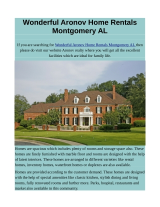 Wonderful Aronov Home Rentals Montgomery AL