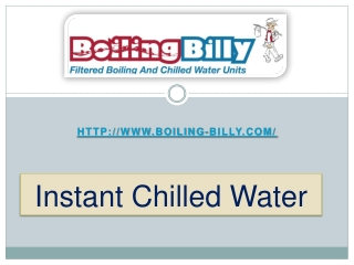 Instant Chilled Water - Boiling Billy