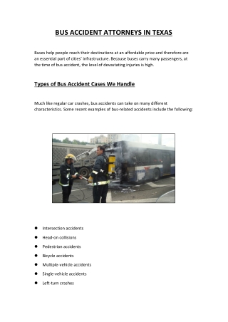 Bus Accident Lawyers in Texas - The Kherkher Law Firm