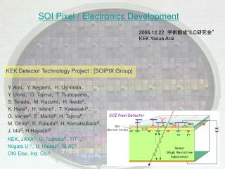 SOI Pixel / Electronics Development