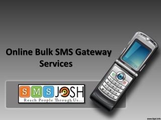 SMS Gateway Provider in Hyderabad, SMS Gateway Marketing in Hyderabad - SMSjosh