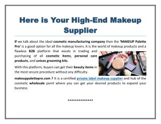 Private Label Makeup Supplier