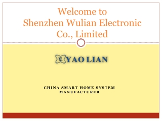 China smart home system manufacturer - yaolianelec.com