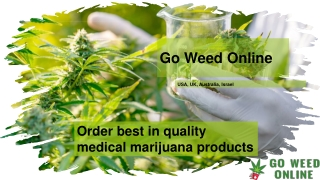 Order best in quality medical marijuana products