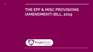 EPF Amendment Bill 2019