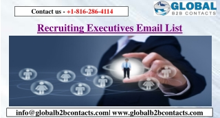 Recruiting Executives Email List