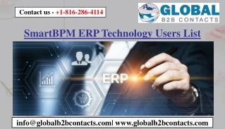 SmartBPM ERP Technology Users List