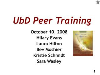 UbD Peer Training