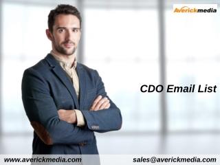 CDO Email List | CDO Email Addresses