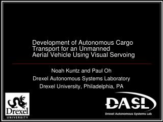 Development of Autonomous Cargo Transport for an Unmanned  Aerial Vehicle Using Visual Servoing