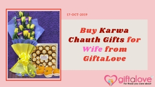 List of Latest Gifts for Wife on Karwa Chauth Festival