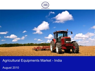 Agricultural Equipment Market in India 2010