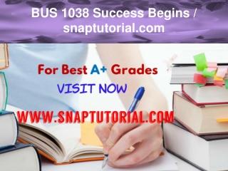 BUS 1038 Success Begins / snaptutorial.com