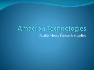 Amacron Technologies - rubber matting
