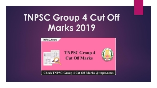 TNPSC Group 4 Cut off Marks 2019 - Check Group IV Exam Score Card
