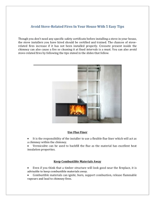 Avoid Stove-Related Fires In Your House With 5 Easy Tips