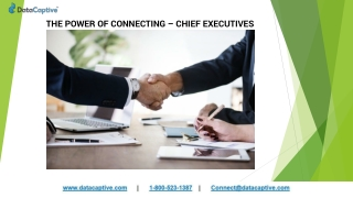 THE POWER OF CONNECTING-CHIEF-EXECUTIVES
