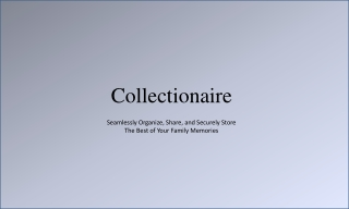 Organize your memories online with Collectionaire