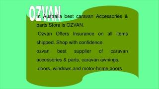 Best Caravan accessories & parts Store in Australia