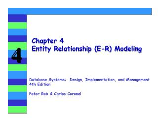 Chapter 4 Entity Relationship E-R Modeling