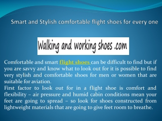 Smart and Stylish comfortable flight shoes for every one