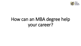 How can an MBA degree help your career?