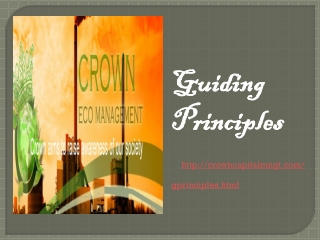 Guiding Principles | Crown Capital Eco Management