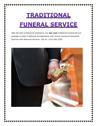 Traditional Funeral Service
