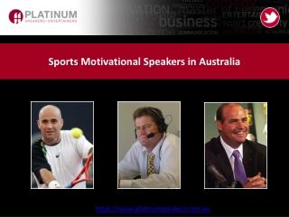 Sports Motivational Speakers in Australia