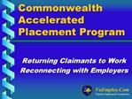 Commonwealth Accelerated Placement Program
