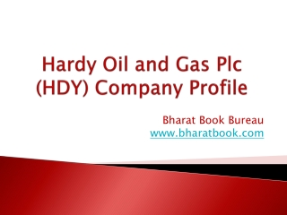 Hardy Oil and Gas Plc (HDY) Company Profile