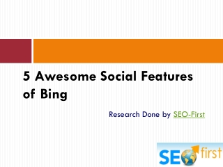 5 Social Features of Bing that Can Beat Google
