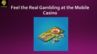 Feel the Real Gambling at the Mobile Casino