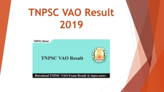 Download TNPSC VAO Result 2019 Check VAO Exam Result & Merit List