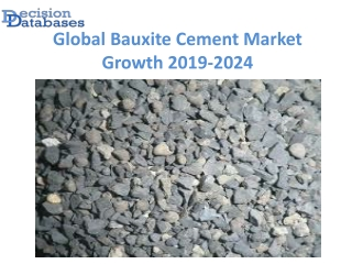 Global Bauxite Cement Market anticipates growth by 2024