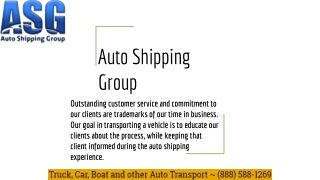About Auto Shipping Group