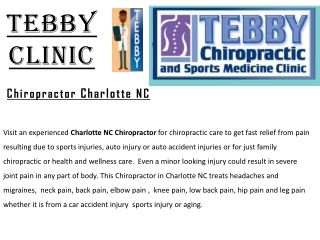 Chiropractic Massage Charlotte | Chiropractic Wellness Center
