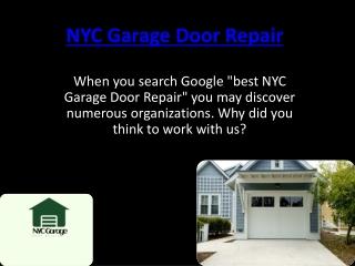 Nyc Garage Door Repair