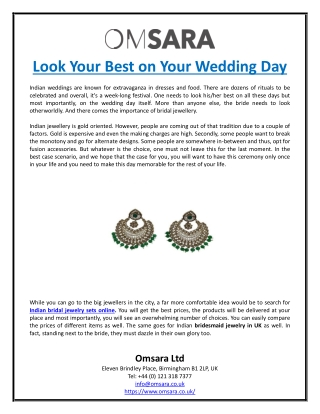 Look Your Best on Your Wedding Day