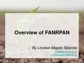 Overview  of FANRPAN