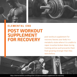 post workout supplement for recovery | Elemental CBD