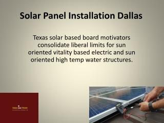 Solar Panel Installation Dallas
