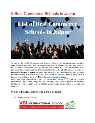 Top 5 Commerce School in Jaipur City