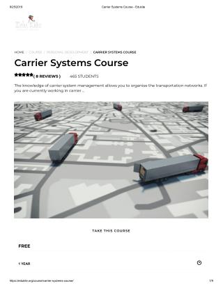 Carrier Systems Course - Edukite